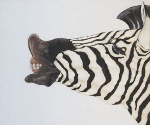 Peinture de Joe Johnson: SMILING ZEBRA