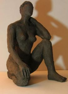 Sculpture de chantal legue: Attente