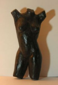 Sculpture de chantal legue: Noire