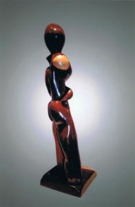 Sculpture de jerome burel: Moine guerrier