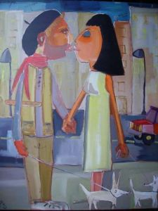 Peinture de benis: french kiss