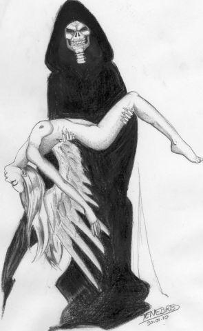 Dans les bras de la Mort - Dessin - Tenebres
