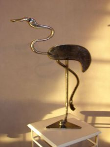 Sculpture de jp: flamant rose