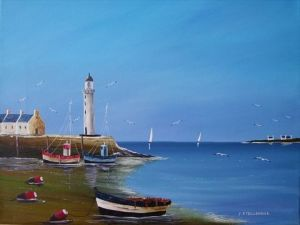Peinture de J-PAUL TAILLANDIER: MAREE BASSE