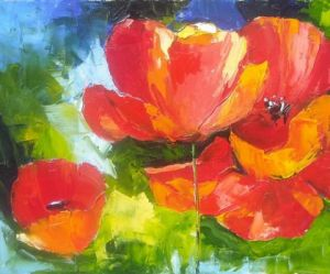 Peinture de Veronique LANCIEN: p'tits coquelicots  version n°2