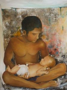 Peinture de Claudine Salesse: Tendresse
