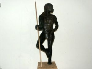 Sculpture de Armelle ESTABLE: guerrier MaasaÏ