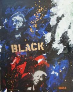 Peinture de Richard Decouflet: black