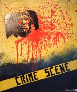 Peinture de Richard Decouflet: crime scene