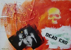 Peinture de Richard Decouflet: dead end 1