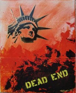 Peinture de Richard Decouflet: dead end 2