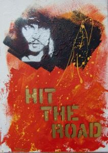 Peinture de Richard Decouflet: hit the road