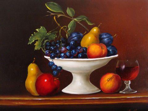 coupe de fruits - Peinture - Lifa
