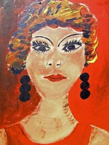 Peinture de LODYA: WOMAN IN RED