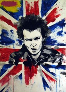 Peinture de JIMY: GOD SAVE THE QUEEN