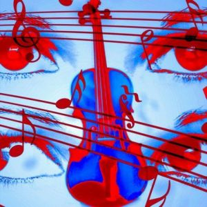 Art_numerique de CHANTAL LEYMARIE: play the music