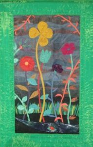 Art_textile de Jean Pierre Avonts-Saint Lager: LE  JARDIN  SECRET / THE SECRET GARDEN