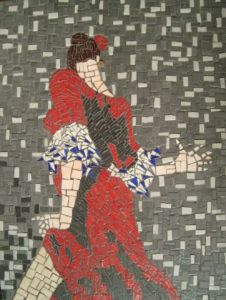Mosaique de christe: flamenco