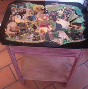 Collage de LAURENCE A: TABLE MIROIR LIBERTINE