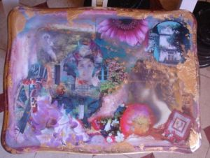 Collage de LAURENCE A: table rose
