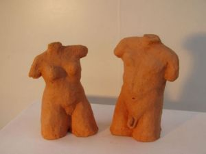 Sculpture de caroline sudre: Couple
