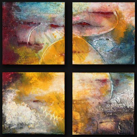 Les 4 saisons - Peinture - Jle