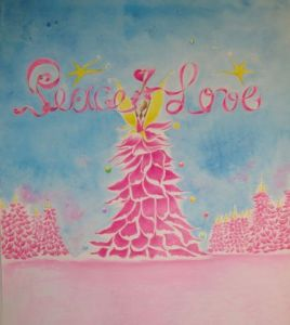 Peinture de rosyline3: Peace and Love