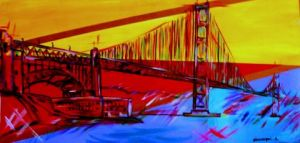 Voir cette oeuvre de tulipe: golden gate bridge- fa�on pop-art
