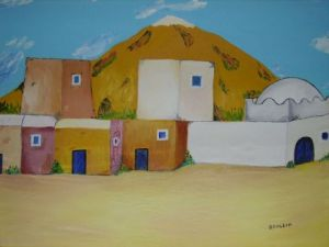 Peinture de drallih: village berb�re
