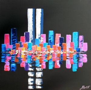 Peinture de Antoine Renault: Twin Tower Spirit Black