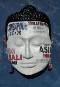 Sculpture de CHRISTELLE RONSEN: Spirit' head ASIA