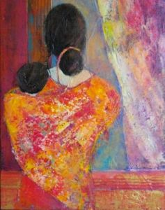 Peinture de chantallongeon: tendresse