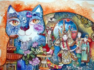 Peinture de OXANA ZAIKA: China cat