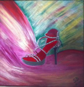 Peinture de SONYA DZIABAS: Night Shoes