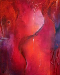 Peinture de virginie Cardinael: Paroles lunaires