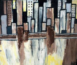 Peinture de Kate: I love New York