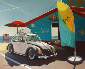 Peinture de PHILIPPE LEROUX: the little shop