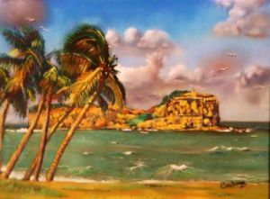 Dessin de alain deschamps: île de martinique .