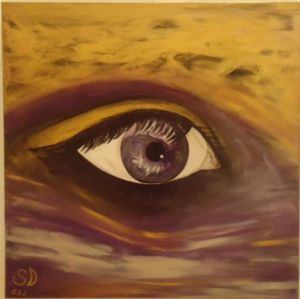 Peinture de SONYA DZIABAS: Sensitive Eye