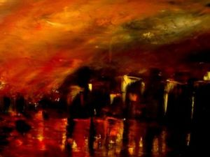 Peinture de Pierre Paul Marchini: Red night