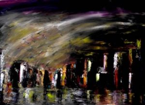 Peinture de Pierre Paul Marchini: City night