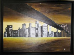Peinture de MAZE: Pont brooklyn new york