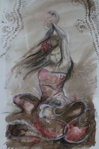 Peinture de anthony soulie: flamenco