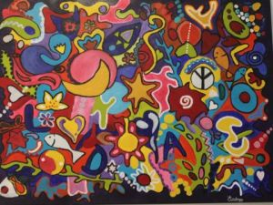 Peinture de Audreyyy: Colourful Love