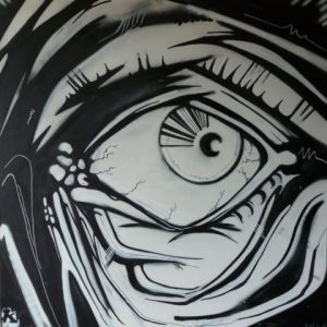 Peinture de antu: watching you !