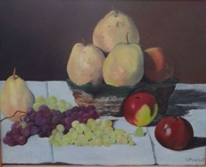 Peinture de Gerard MUSELET : NATURE MORTE reproduction de C. Monet