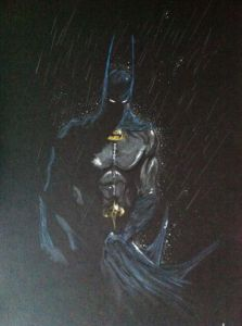 Dessin de Anthony Darr : Batman from darkness