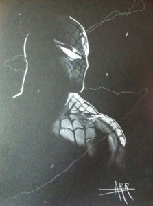 Dessin de Anthony Darr : Spider-Man
