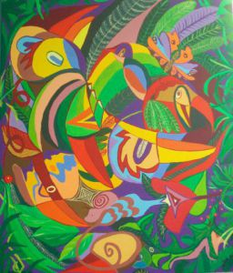 Peinture de Mimi Revencu: Jungle 1