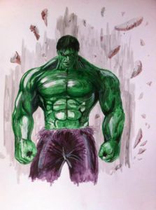 Dessin de Anthony Darr : The incredible Hulk